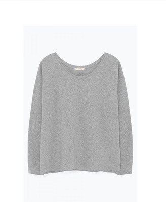 American Vintage Sonoma Long Sleeve Round Neck Sweater - Heather Grey - large