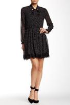 Alexia Admor Polka Dot Lace Trim Dress