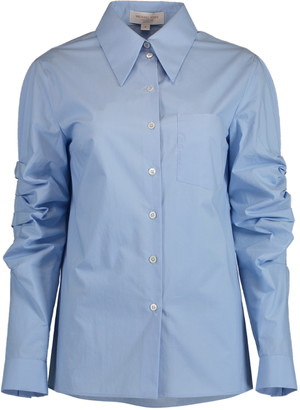 Michael Kors Ruched Sleeve Button Down Shirt