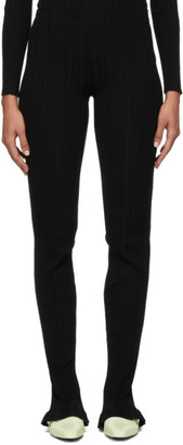 Acne Studios Black Ribbed Lounge Pants