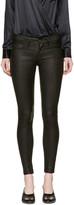Frame Black Leather 'Le Skinny De Jeanne' Pants