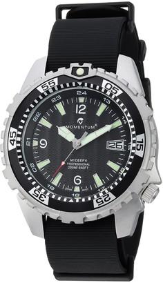 Momentum Men's 1M-DV06B11B Deep 6 Analog Display Quartz Black Watch