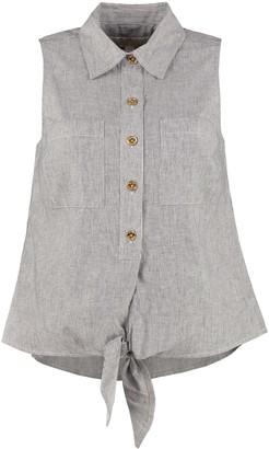 MICHAEL Michael Kors Blend Cotton Sleeveless Shirt