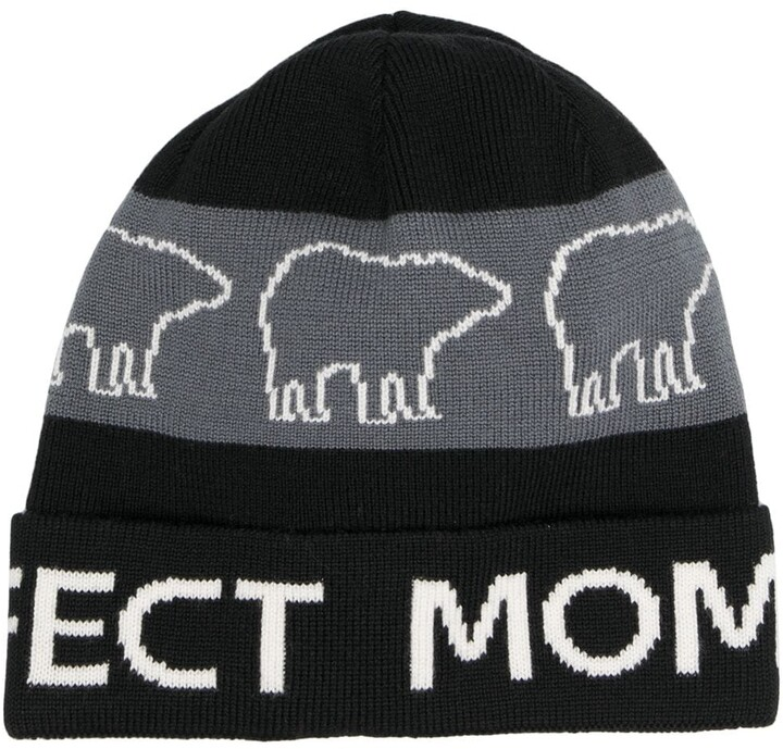 Perfect Moment Bear Merino Beanie Hat
