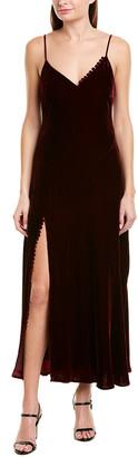 Nicholas Velvet Silk-Blend Slip Dress