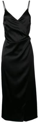 Ssheena wrap slip dress