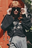 Wildfox Couture Pastel Snow Babe Holiday Sweater in Clean Black