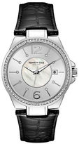 Kenneth Cole Ladies Leather-Strap Analog Watch