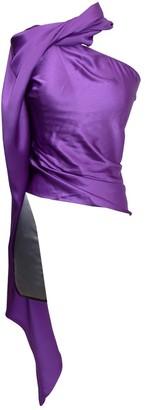 Ralph Lauren Purple Label Purple Silk Top for Women