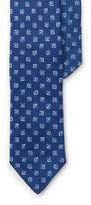 Polo Ralph Lauren Square-Print Linen Narrow Tie