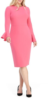 Maggy London Kaye Bell Cuff Midi Dress