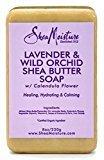 Shea Moisture Soap 8oz Bar Lavender/Wildorchid/Sheabutter (3 Pack)
