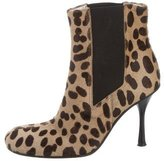 Dolce & Gabbana Ponyhair Printed Ankle Boots