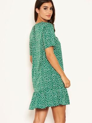 AX Paris Ditsy Frill Hem Dress