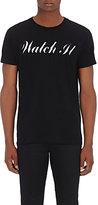"""Saint Laurent Men's """"Watch It"""" Cotton T-Shirt-BLACK"""