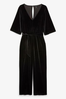 Monki Velvet jumpsuit