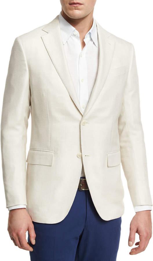 Ermenegildo Zegna WOOL Two-Button Sport Coat, Ivory