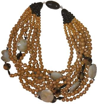 Angela Caputi Beige Pearls Necklaces