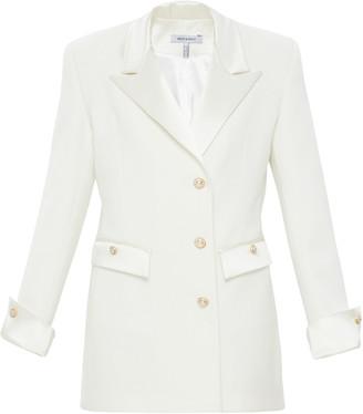 Mach & Mach CrAme Tuxedo Blazer Dress With Pearl Buttons