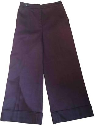 Whistles Burgundy Trousers for Women