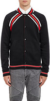 Givenchy Men's Compact Knit Baseball Jacket-BLACK