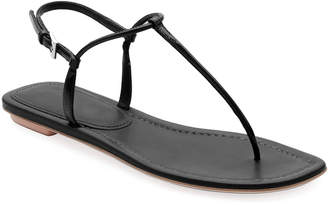 Prada Flat Patent Leather Thong Sandals