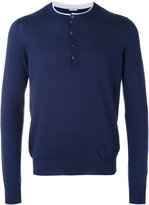 Malo - contrast trim sweater - men - Cotton/Cashmere - 48