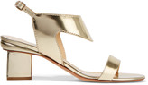Nicholas Kirkwood Leda mirrored-leather sandals