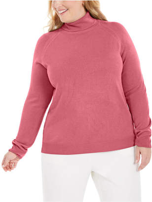 Karen Scott Plus Size Turtleneck Luxsoft Sweater