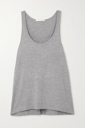 Skin Laura Melange Stretch-jersey Tank - Gray