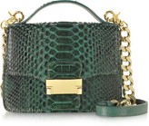 Ghibli Emerald Green Python Leather Shoulder Bag