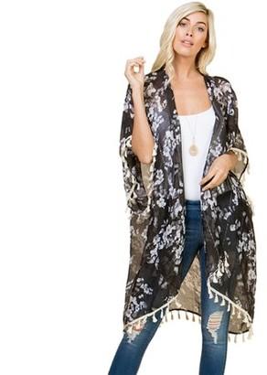 Riah Fashion Printed Cardigan
