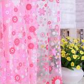 TIYANA Modern Home Fashions Floral Printed Voile Sheer Curtains Rod Pocket Top drapes Window Panels Tulle Curtains for Bedroom Living Room Kids Room, 1 Panel