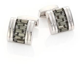 Tateossian Interlocked Swarovski Crystal Cuff Links