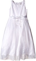 Us Angels Embroidered Organza Satin Sleeveless Lace Dress Girl's Dress