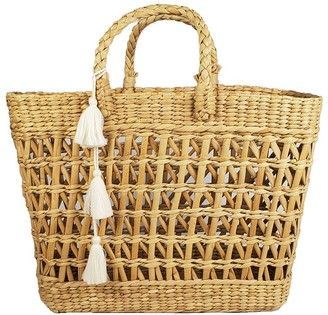 Velvet by Graham & Spencer Freedom Woven Straw Tassel Tote