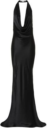Stella McCartney Silk satin halter gown