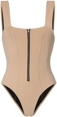 Rochelle Sara Kelsey zip detail swimsuit