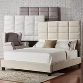Inspire Q Tower High Profile Upholstered Full Bed by