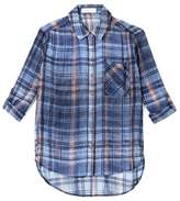 Two By Vince Camuto Plaid-print Shirt