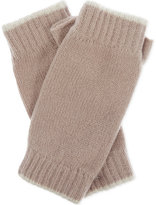 Johnstons Tipped cashmere wristwarmers