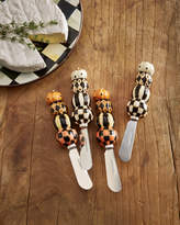 Mackenzie Childs MacKenzie-Childs Stacking Pumpkins Canape Knives, Set of 4