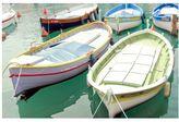 Pottery Barn Pastel Boats Framed Print by Lupen Grainne