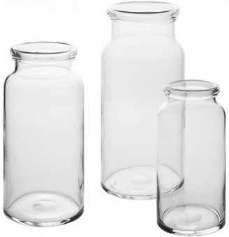 clear Casamotion Hand blown Vase, Set of 3
