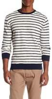 Knowledge Cotton Apparel Striped Contrast Trim Sweater