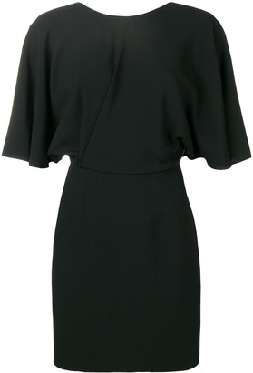 Saint Laurent v-back fitted dress