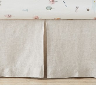 Pottery Barn Kids Belgian Flax Linen Crib Skirt