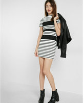 Express striped mock neck dress