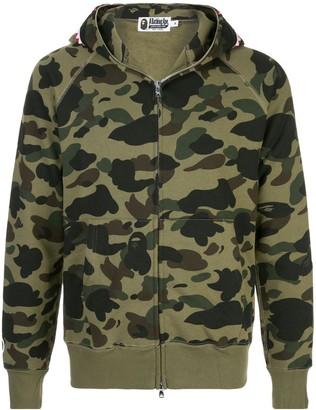 Bape 1st Camo zip-front shark hoodie