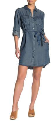 Velvet Heart Ada Chambray Waist Tie Uitility Dress
